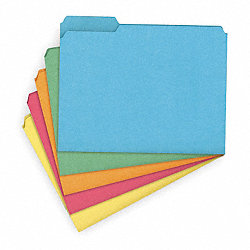 File Folder, Letter, Assorted, PK50