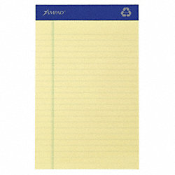Writing Pad, 5x8, Canary, Recyc, PK12