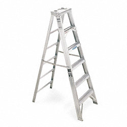 Stepladder, Aluminum, 10 ft. H, 375 lb Cap.
