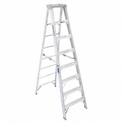Stepladder, Aluminum, 8 ft. H, 375 lb. Cap.