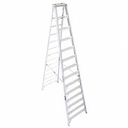 Stepladder, Aluminum, 14 ft. H, 300 lb Cap.