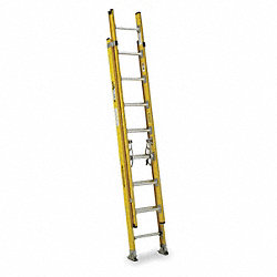 Extension Ladder, Fiberglass, 16 ft., IAA