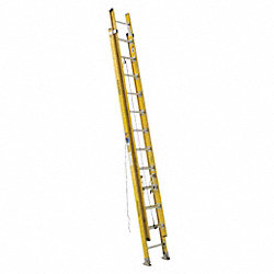 Ext Ladder, Fiberglass, 24 ft., IAA