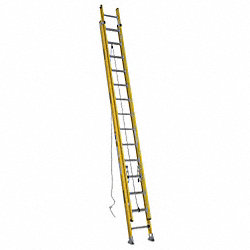 Ext Ladder, Fiberglass, 28 ft., IAA