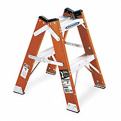 Twin Step Stool, 24 In H, 300 lb.