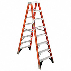 Dbl Sided Stplddr, FG, 8 ft H, 375 lb. Cap.