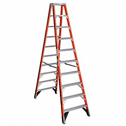 Dbl Sided Stplddr, FG, 10 ft. H, 375 lb Cap