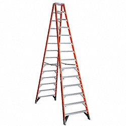 Dbl Sided Stplddr, FG, 14 ft. H, 300 lb Cap