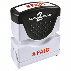 Microban Message Stamp, Paid, 3/8