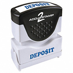 Microban Message Stamp, Deposit, 3/8