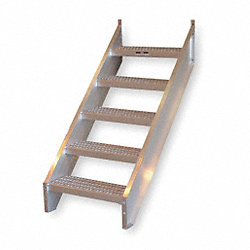 Stair Unit, Aluminum, 6 Steps, 50 lb. Cap.