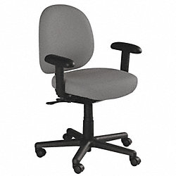 Chair, Anti-Microbial, Gray, Arms, Polyester
