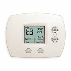 Digital Thermostat, 1H, 1C, Hp, Nonprogram