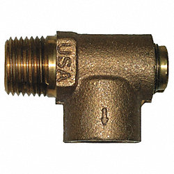 Relief Valve, 3/4 x 1/2 In, 75 psi, Brass