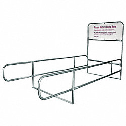 Cart Corral, Single Wide, 168 x 32