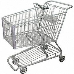 Wire Shopping Cart, 40-3/4 In. L