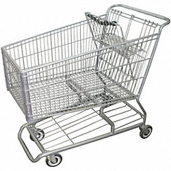 Wire Shopping Cart, 42 In. L, 25 In. W