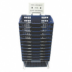 Hand Basket, Blue, 18 1/4 x 12 1/4, PK 12