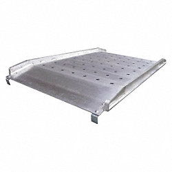 Alum Walk Ramp, Hook End, 1000lb, W28In