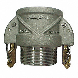 Female Coupler, Male NPT, 1 In, Aluminum