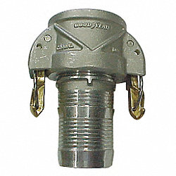Female Coupler, Hose Barb, 4 In, Aluminum