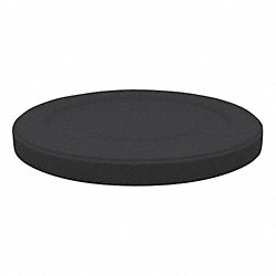 Round Receptacle Lid, Black, 22In Dia