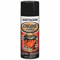 Engine Enamel, Gloss Black, 16 oz, Spray
