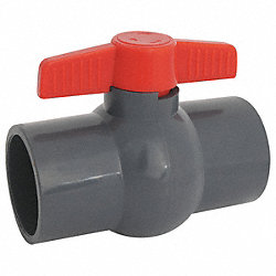 Ball Valve, 1 Pc, 1 In, PVC, FNPT