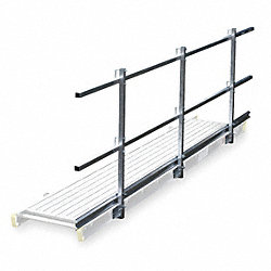 Guard Rail and Toe Board System, 20 ft. L
