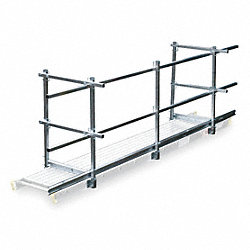 Guard Rail and Toe Board System, 12 ft. L
