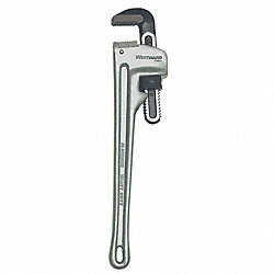 Straight Pipe Wrench, Aluminum, 24 in.