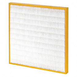 Minipleat Filter, 24 In. W, 16 In. H
