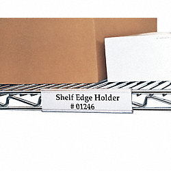 Index Wire Rack Label Holder, 24 in, PK6