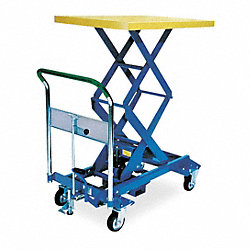 Scissor Lift Cart, 770 lb., Steel, Fixed