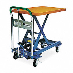 Scissor Lift Cart, 550 lb., Steel, Fixed