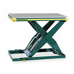 Scissor Lift Table, 2000 lb., 115V, 1 Phase