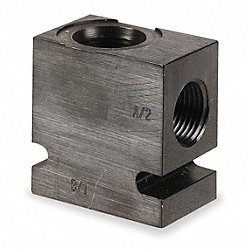 Valve Base, 9/16-18 SAE, Alum, 8-2 Cavity