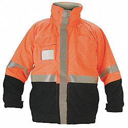 Flame-Resistant Jacket, Orange/Navy, 4XL