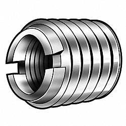 Thread Insert, Stl, 1/4-20, 3/8L, Pk10
