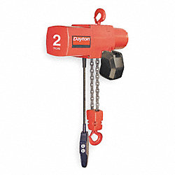 Electric Chain Hoist, 4000 lb., 0 to 8 fpm
