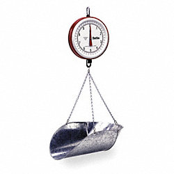 Mechanical Hanging Scale, Dial, 7 In. L