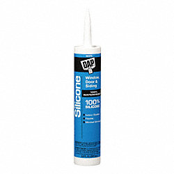 Silicone Rubber Sealant, White, 10.1 oz.