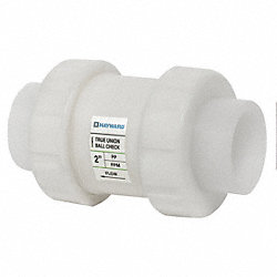 Check Valve, 1-1/2 In, FNPT, Polypropylene