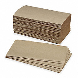 Paper Towel, Single Fold, Brown, PK4000