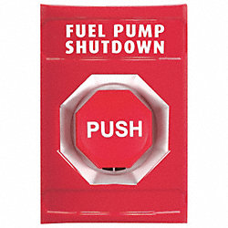 Fuel Pump Shutdown Push Button, Red, ADA