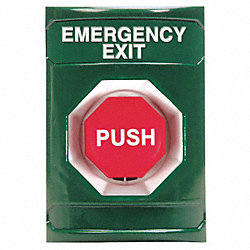 Emergency Exit Push Button, Turn-To-Reset