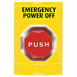 Emergency Power Off Push Button, Yellow