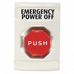 Emergency Power Off Button, Turn-To-Reset