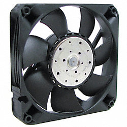 Axial Fan, 12VDC, 4-11/16In H, 4-11/16In W