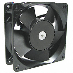 Axial Fan, 24VDC, 4-2/3In H, 4-2/3In W